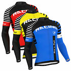FDX Mens Blaze Cycling Jersey Full Sleeve Thermal Fleece Team Racing Cycling Top
