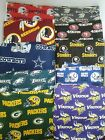 "NFL Zippered Pillow ""COVER""  18"" x 18""  Handmade Throw Toss Football Game Day"