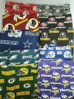 "NFL Zippered Pillow ""COVER""  18"" x 18""  Handmade Throw Toss Football Game D"