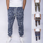 Vintage Mens Retro Slim Fit  Drawstring Pants Legging Hippie Trousers Sweatpants