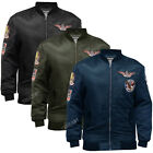 Soulstar Mens MJ Koto Pilot AirForce Military Style Padded MA1 Bomber Jacket