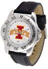 Iowa State Cyclones Sport Watch Anochrome Leather Band Ladies Mens White Dial
