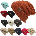 HOT! New Knit Slouchy Beanie CC Oversized Thick Cap Hat Unisex Slouch Color