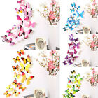 12Pcs Life-like 3D Butterfly Wall Decor Sticker Art Decal Home Decoration New