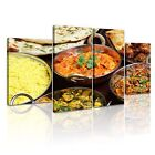 FOOD & DRINK INDIAN FOOD Canvas Framed Printed Wall Art 4 ~ 4 Panels