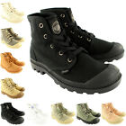 Mens Palladium Pampa Hi Lace Up Ankle High Gusset Canvas Trainer Boots UK 7-12