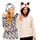 Ladies Polka Dot Novelty Hoodie New Womens Fleece Loungewear Jumper Sizes UK8-22