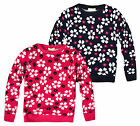 Girls Long Sleeved Floral Daisy Tee New Kids Fashion Tops Ages 3-12 Years