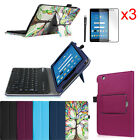 For AT&T Trek 2 HD 8-inch 6461A Bluetooth Keyboard Case Cover + 3 Pcs Protector