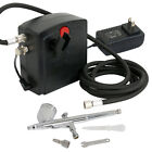 Portable MINI AIRBRUSH AIR COMPRESSOR KIT SET Hose Makeup Cake Tattoo Nail Hobby