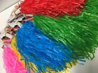 New Cheer leading squad pom poms 1 pair 5 colour choices shakers cheerleader