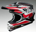 SHOEI VFX-W TURMOIL TC1 RED MX MOTOCROSS RACE SPEC MOTORCYCLE OFF ROAD HELMET