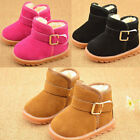 Baby Infant Child Boys Girls Warm Snow Boots Fur Winter Toddler Crib Shoes 5-11
