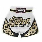 Twins Special Muay Thai Shorts T-71 kick boxing New White/Gold/Black