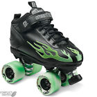 "SURE-GRIP ""Rock Flame"" Quad Roller Skates Size 4 - 8 UK GREEN SALE Roller Derby"