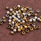 50/100Pcs Antique Tibetan Silver Round Charm Spacer Beads for Bracelet 3035