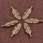 10/30/50Pcs Antique Silver/Gold Feather Leaves Charm Pensant DIY Findings 3077