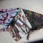 MULTI COLOURED CAMOUFLAGE ARMY (VARIOUS) PRINT BANDANA / BANDANNA / SCARF new