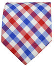 Red, White and Blue Cotton Necktie by Paul Malone