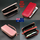 Quality Genuine Leather Ladies Womens Trifold Wallet Purse Zip Coins Pocket