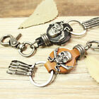 NEW Infinity Fashion Head Layer Leather Key Button Personality Male And Female