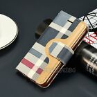 Luxury Magnetic Card Slot Flip Leather Wallet Case Cover For iPhone 5 5s 6 6s