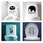 Toilet Seat Wall Paper Vinyl Sticker Art Removable Bathroom Decals Decor New