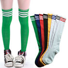 Thigh High Over-Knee Athletic Soccer Rugby Sports With Strips Tube Socks Women