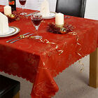 Emma Barclay Angelica Christmas Tablecloth Napkins Dining Table Cloth Red Xmas
