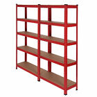 5 TIER HEAVY DUTY SHELVING UNIT INDUSTRIAL RACKING WAREHOUSE GARAGE BAYS STORAGE <br/> SET OF 1,2,3✔ 1500X750X300MM/UNIT✔ FAST &amp; FREE DELIVERY