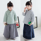 Kids Toddler Girls Chinese Folk Cotton-Padded Coats Thick Jackets Warm Outwear