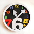 Modern Novelty Wall Clock with Colorful Oversized Numbers
