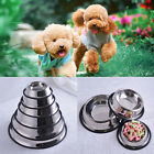 1X No Tip Non-Slip Dog or Cat Food or Water Bowl Stainless Steel Pet Bowl 3C JR