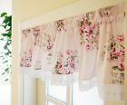Country Style French Provincial Home Kitchen Pink/Red Rose Cafe Curtain