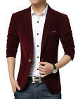 Men's Classic Single Brased Official Linen Two Button Blazer Coat MB # 31