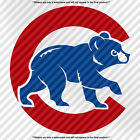 Chicago Cubs 2-Color Decal Sticker C With Cub