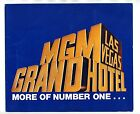 MGM Grand Hotel Las Vegas POP-UP Brochure More of Number One 1980