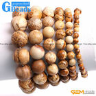 Handmade Natural Picture Jasper Beaded Energy Healing Bracelet Free Shipping 7""