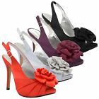 New Womens Ladies Platform High Stiletto Heel PEEP Toe Slingback Sandals Shoes