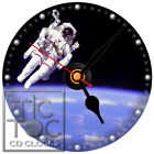 S-815 CD CLOCK-ASTRONAUT FLOATING IN SPACE-SPACEMAN-DESK OR WALL CLOCKS