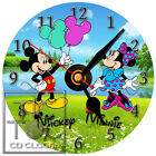 S-778 CD CLOCK-MICKEY AND MINNIE MOUSE HOLDING BALOONS-DESK OR WALL CLOCK