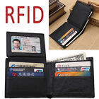 RFID Blocking GentleMan Leather Bifold Wallet Passcase Credit Card Protector