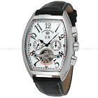 FORSINING Luxury Skeleton Stainless Steel Mechanical Automatic Mens Watch Formal