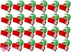 PACK OF 24 ELF HATS WITH EARS CHRISTMAS FANCY DRESS PARTY MULTIPACK BULK BUY