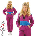 Adult Ladies 1980s Shell Suit Fancy Dress Costume Scouser Outfit Tracksuit  New
