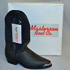 Masterson Boot Co Western Cowboy Work Boots Black Leather/Rubber Sole Mens Asst