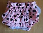 NEW DOG FEMALE BLOOMERS PANTIES Diaper Panty PINK Polka Dots Ruffles XS- XL