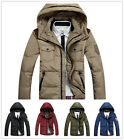 Free Men's Winter Solid duck down Coats Hooded Down Jacket Trench Parka outwear