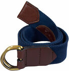 HoneyBadger Navy D Rings Canvas Casual Belts_DNY043