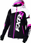 FXR Womens Black/White Tri/Fuchsia Revo X Snowmobile Jacket Insulated Snocross
